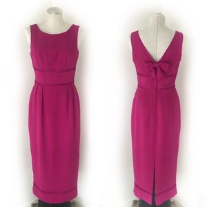 Vintage Pink Midi Dress w/ Crochet Details Size 6